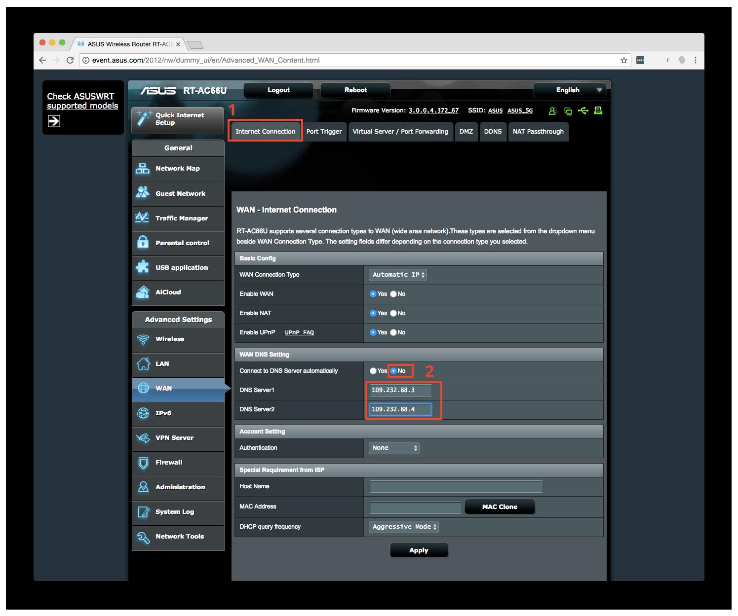 Configurazione dynDNS.it per Asus - dynDNS.it - DNS dinamico gratuito