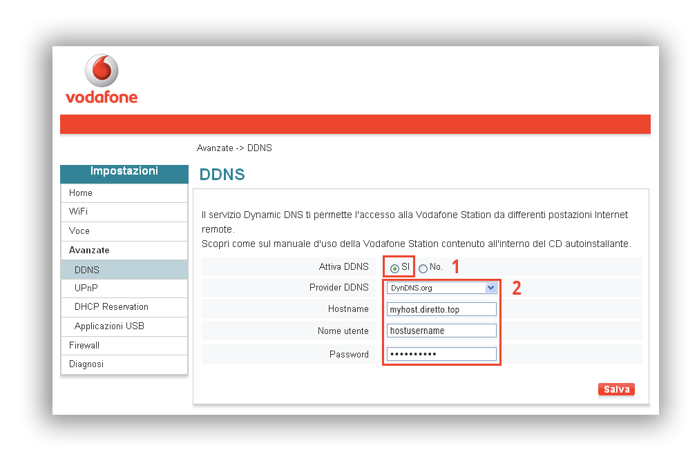 Configurazione dynDNS.it per Vodafone - dynDNS.it - DNS dinamico gratuito